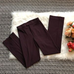 DKNY Classic Stretch Pants Ribbed Plum Purple
